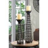 Small Knotted Rattan Candle Stand
