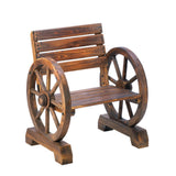 Rustic Wagon Wheel Chair