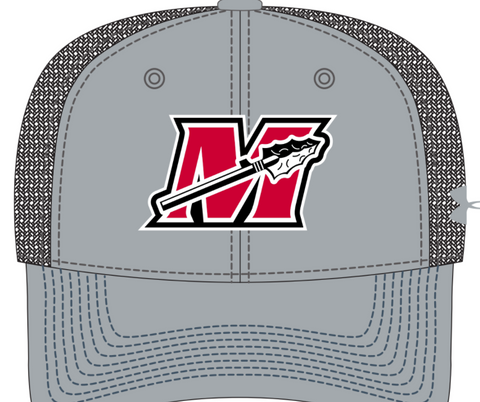UA Gray/White All Day Trucker Mesh Baseball Cap