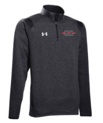 Under Armour Men's Black Hustle Fleece 1/4 Zip