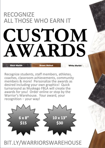 Award & Recognition Plaques 6 x 8""