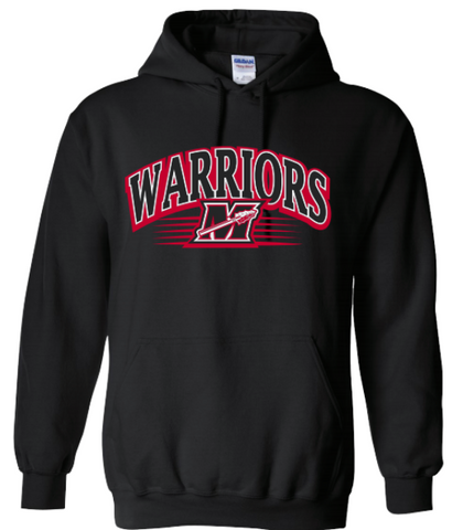 Warriors M Stripe Black Men's Hoodie