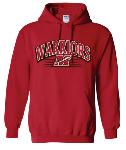 Warriors M Stripe Red Men's Hoodie