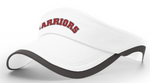 """Warriors"" Embroidered White Visor"