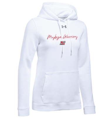 Under Armour White Ladies Hustle Fleece Hoodie