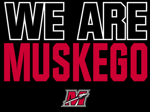 "Youth Recruit ""We Are Muskego"" Black Performance Hoodie"