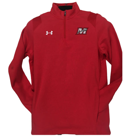 Under Armour Victory Red 1/4 Zip Embroidered Hustle Men's Fleece