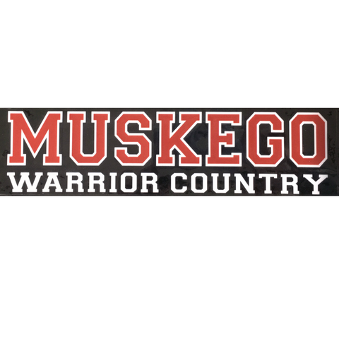 """Warrior Country"" Window Cling"
