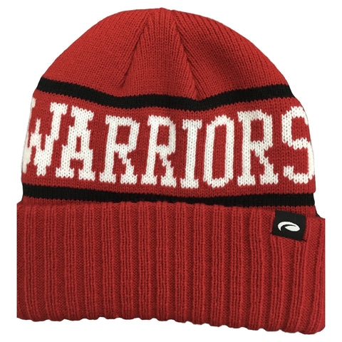 Knit Red Warrior Patch Hat by Pukka