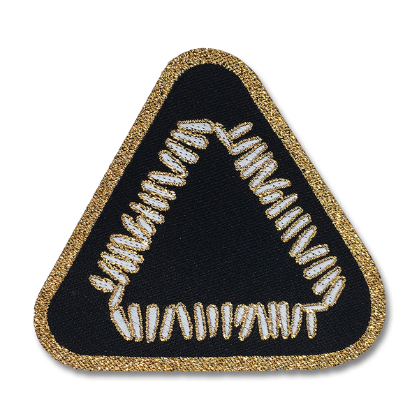 Triangle Logo Woven Patch - Black