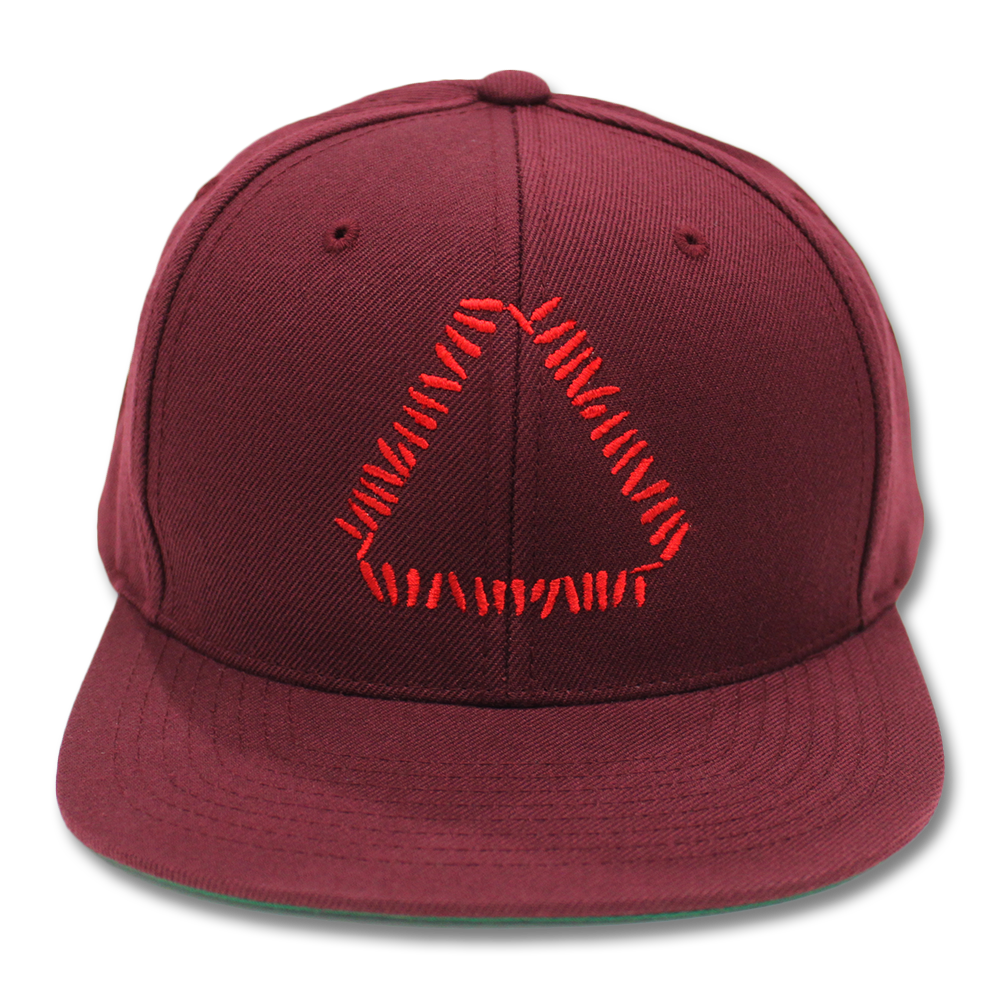 15f7adca Official Warpaint Embroidered Triangle Logo Snapback (Maroon ...