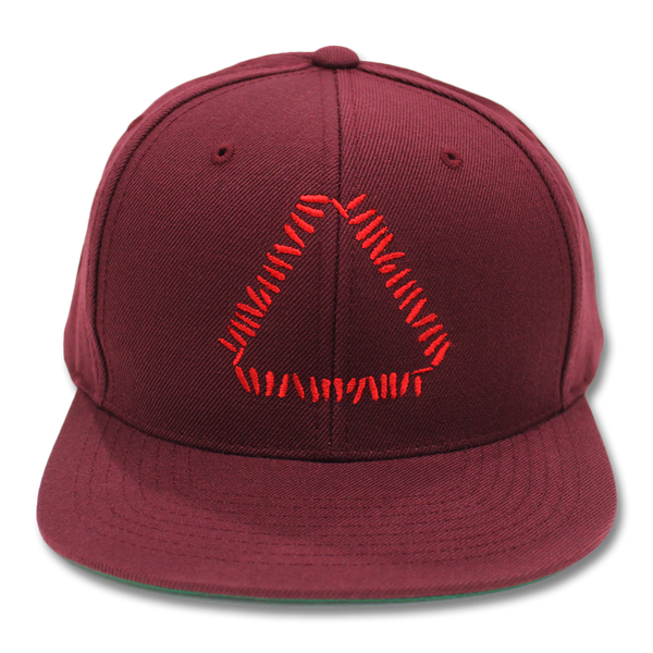 Official Warpaint Embroidered Triangle Logo Snapback (Maroon)