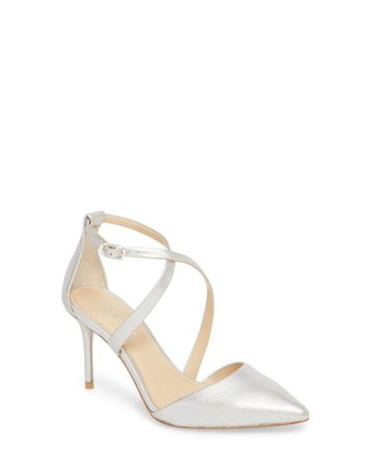 Imagine Women's Gabe Pumps Platinum