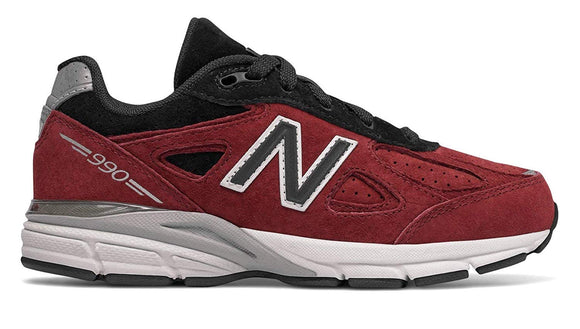New Balance Kid's 990 Shoes Dark Red