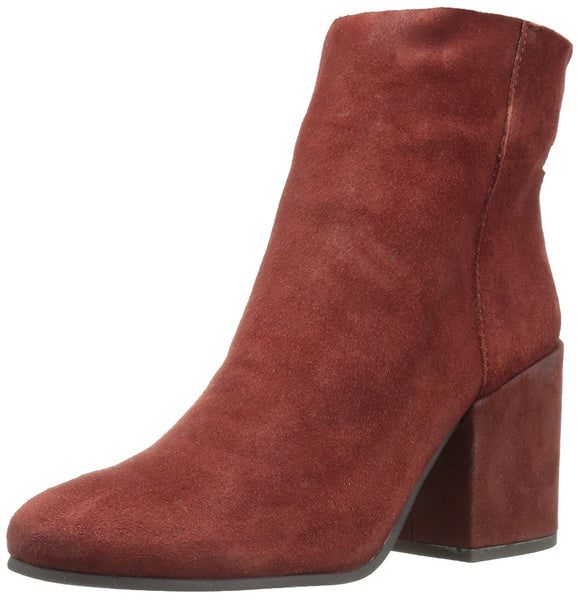 Lucky Brand Women's Ravynn Rear-Zip Leather Ankle Boots Sable