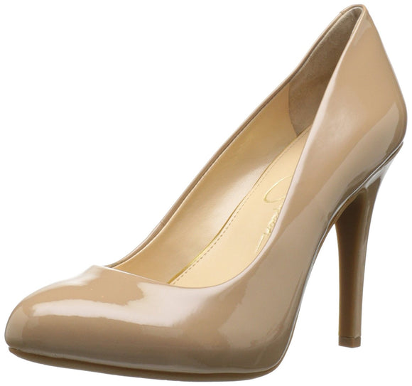 Jessica Simpson Women's Malia Leather Closed-Toe Dress Pumps Nude