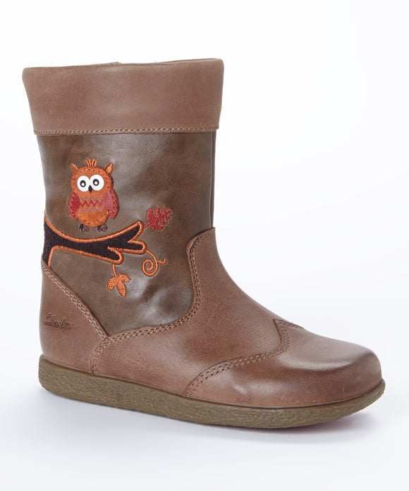 Clarks Toddler's Jenna Owl First Boots