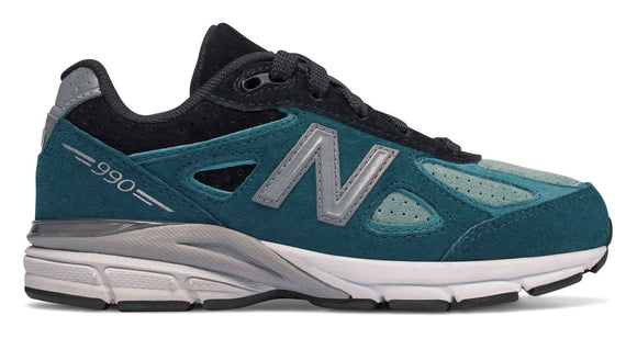 New Balance Kid's 990 Shoes Blue Ashes