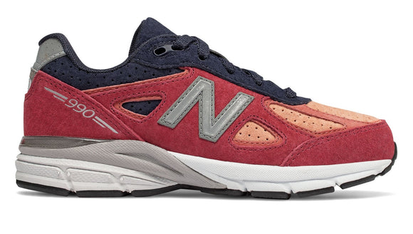 New Balance Kid's 990 Shoes Coral Glow