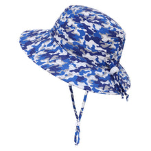 Load image into Gallery viewer, Baby UPF 50+ Adjustable Drawstring Wide Brim Bucket Sun Hat