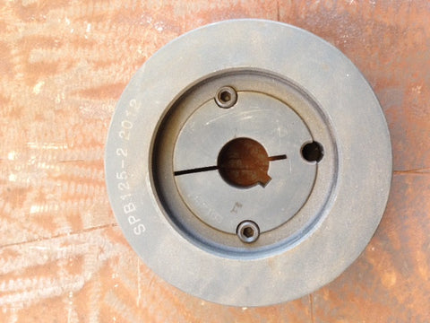 Taper Lock Pulley and Bush - Diameter 125mm with 1 Inch Bush