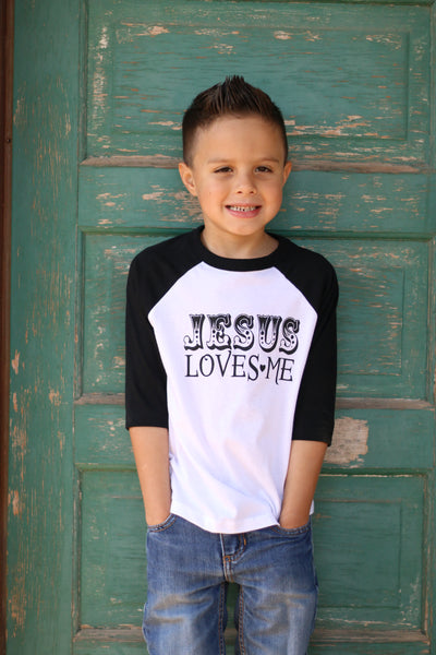 Jesus Loves Me Toddler Kids Raglan Tshirt, Trendy Kids Tshirt, Hipster Tshirt, Christian Apparel, Toddler tshirt, Baseball tee, Toddler