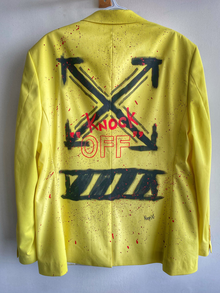 REBEL ART Fluorescent Yellow Blazer