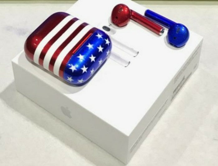 Red, White and Blue Airpods
