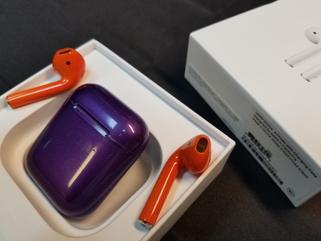 Orange and Purple AirPods