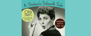 Mark Your Calendar - May 18 Is OUTSIDE SALE!