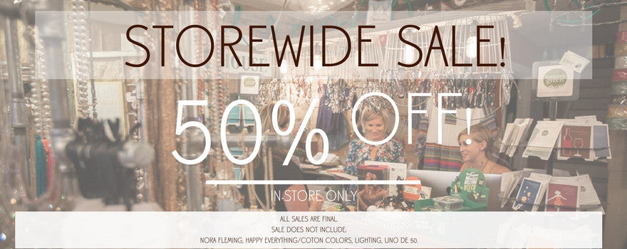 Storewide Sale: 50% Off {Almost} Everything!