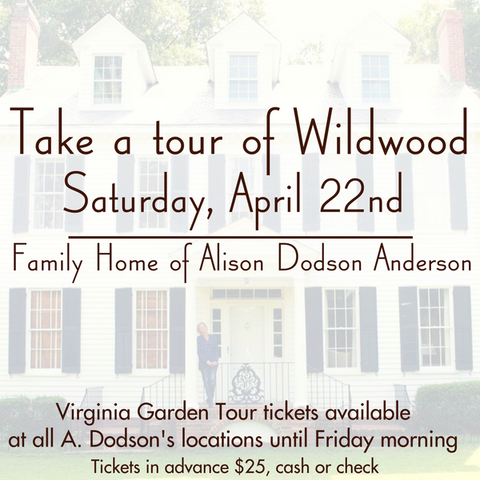 Historic Virginia Garden Week Tour Wildwood Chesapeake VA Alison Dodson Anderson A. Dodson's