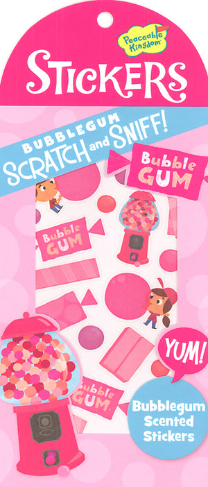 SCRATCH AND SNIFF - BUBBLEGUM STICKERS