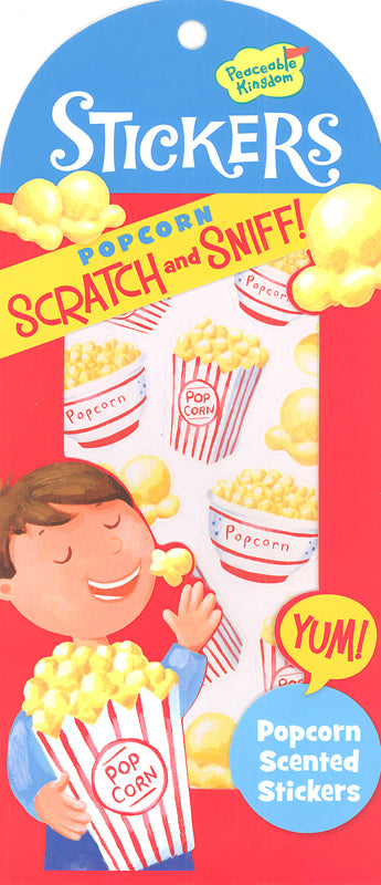 SCRATCH AND SNIFF - POPCORN STICKERS