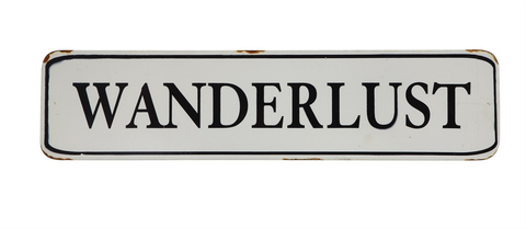 WANDERLUST TIN WALL DECOR