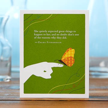 SHE QUIETLY EXPECTED GREAT THINGS CARD, Compedium - A. Dodson's