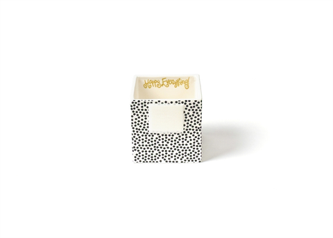 HAPPY EVERYTHING BLACK SMALL DOT MINI NESTING CUBE SMALL Happy Everything - A. Dodson's