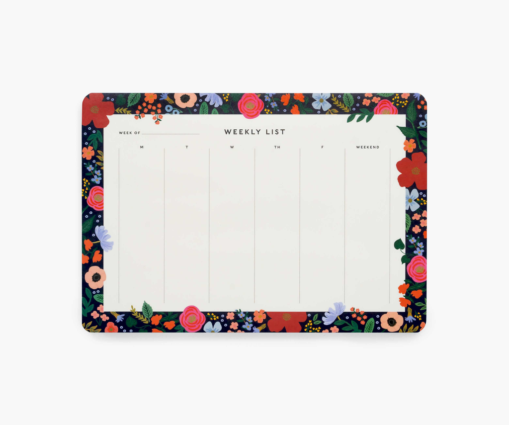WILD ROSE WEEKLY DESK PAD, Rifle Paper Co - A. Dodson's