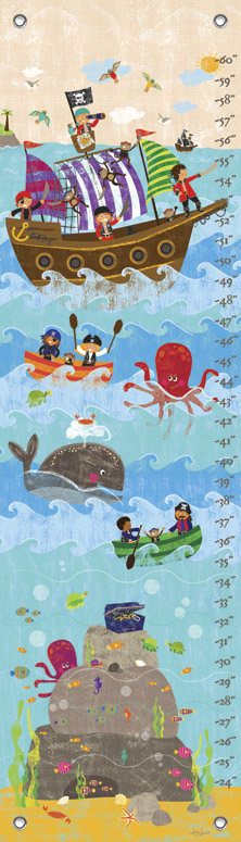 SWASHBUCKLING GOOD TIME BY LIZA LEWIS GROWTH CHART, Greenbox Art - A. Dodson's
