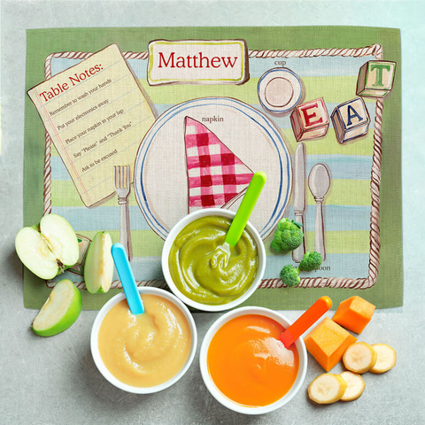 PLACE SETTING - BOY FABRIC PLACEMAT