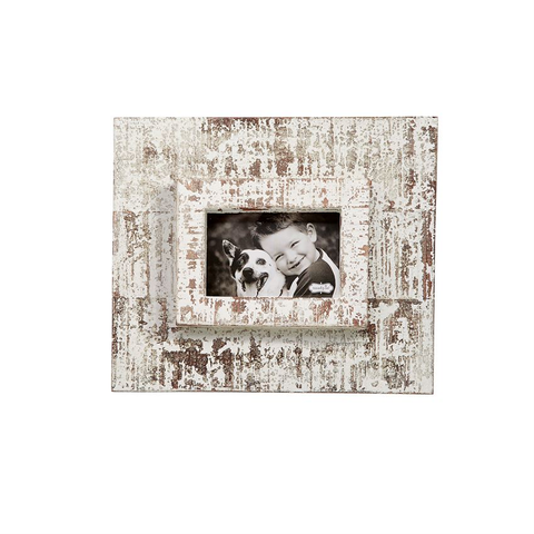 4X6 WHITE DISTRESSED FRAME