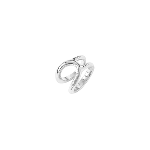 SHORTCUT SILVER RING - L