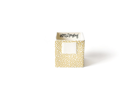 HAPPY EVERYTHING GOLD SMALL DOT MINI NESTING CUBE SMALL, Happy Everything - A. Dodson's