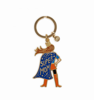 SUPER MOM ENAMEL KEYCHAIN, Rifle Paper Co - A. Dodson's