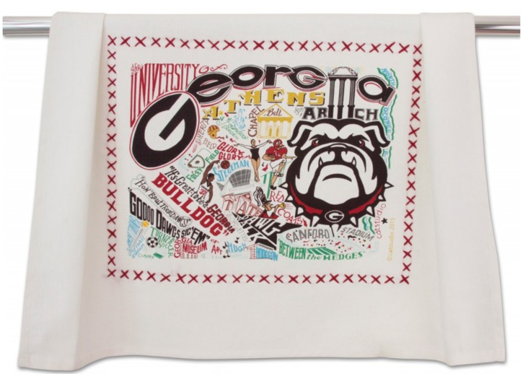 UNIVERSITY OF GEORGIA DISH TOWEL BY CATSTUDIO, Catstudio - A. Dodson's