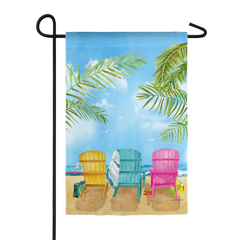 BEACH CHAIRS GARDEN SUEDE FLAG