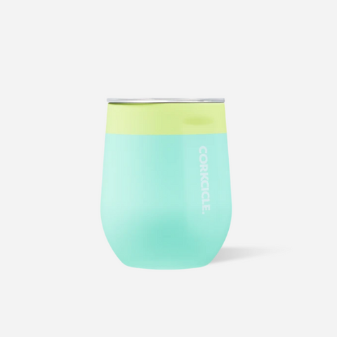 12oz STEMLESS COLOR BLOCK LIMEADE CORKCICLE