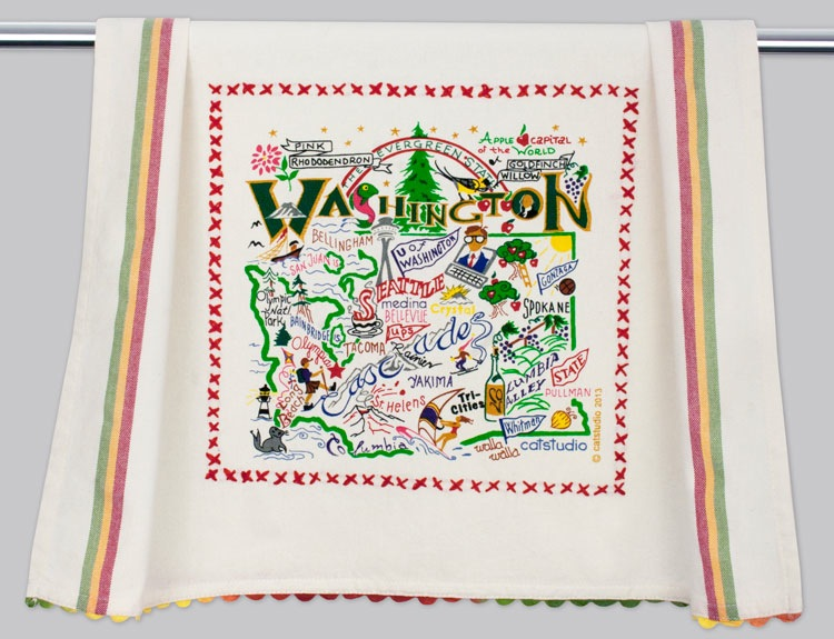 WASHINGTON STATE DISH TOWEL BY CATSTUDIO, Catstudio - A. Dodson's
