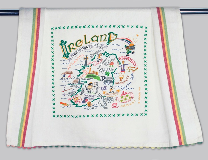 IRELAND DISH TOWEL BY CATSTUDIO