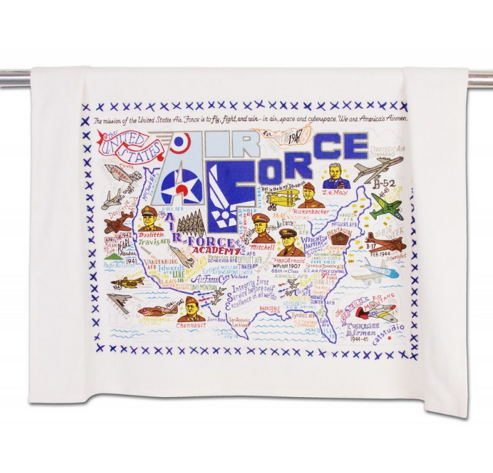 AIR FORCE DISHTOWEL BY CATSTUDIO